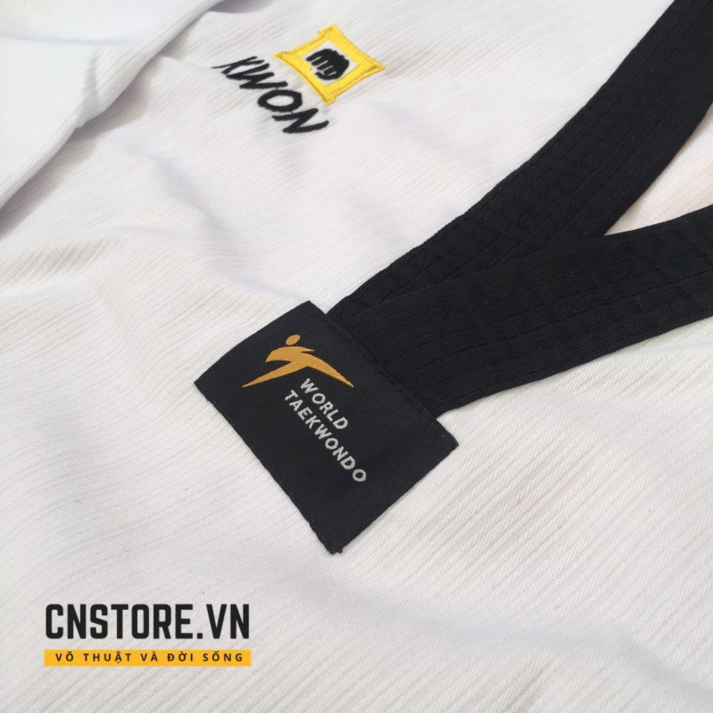 áo võ taekwondo cổ đen