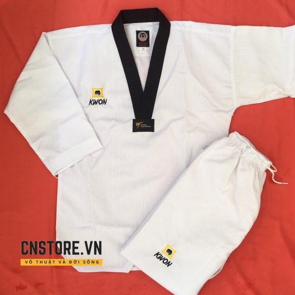 võ phục tập võ taekwondo cổ đen