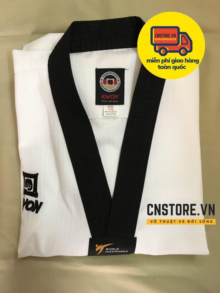 võ phục taekwondo cổ đen kwon