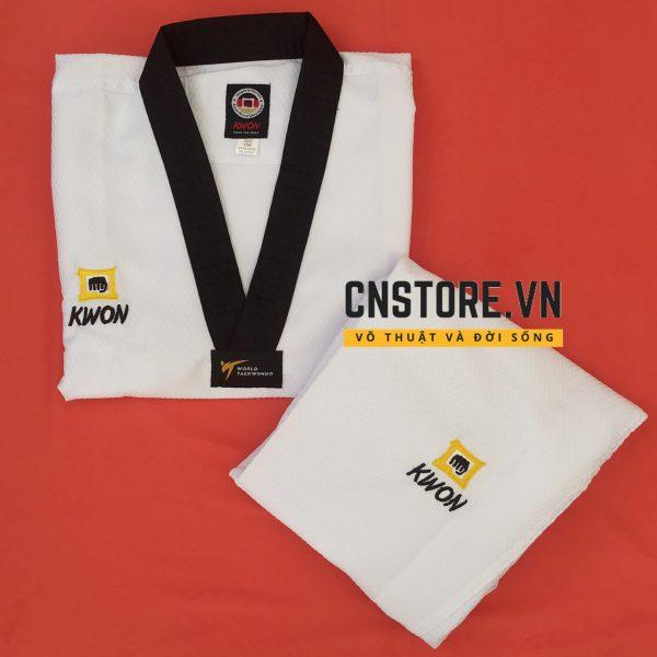 võ phục taekwondo cổ đen