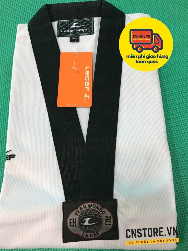 võ phục taekwondo cổ đen hàn quốc lecaf