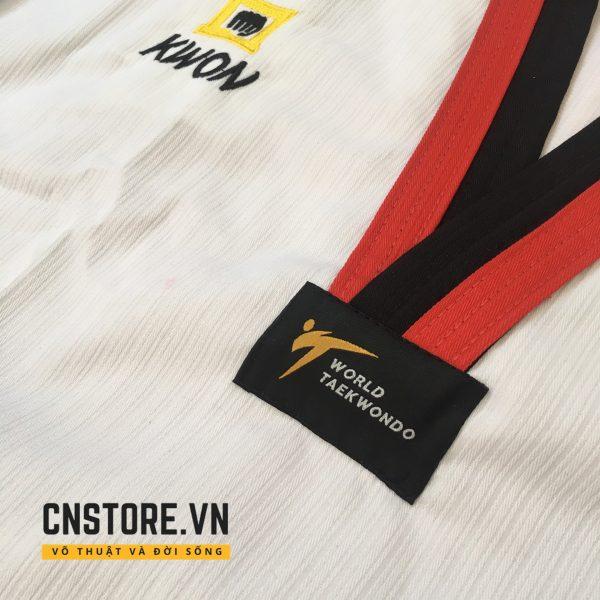 áo võ taekwondo cổ đỏ đen