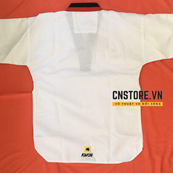 võ phục tập võ taekwondo cổ đỏ đen