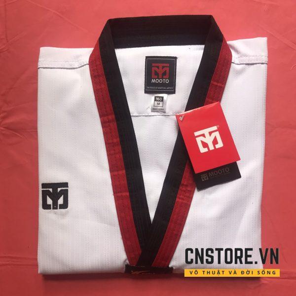 võ phục taekwondo đỏ đen
